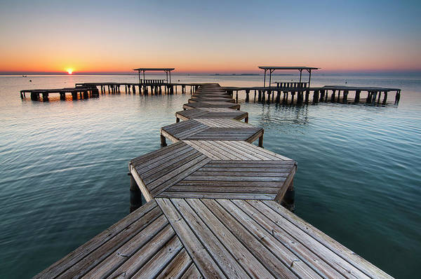 Jetty Photograph - Geometric Jetty In Marina by Pedro Díaz Molins