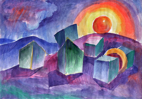 Painting - Geometric Landscape by Irina Dobrotsvet