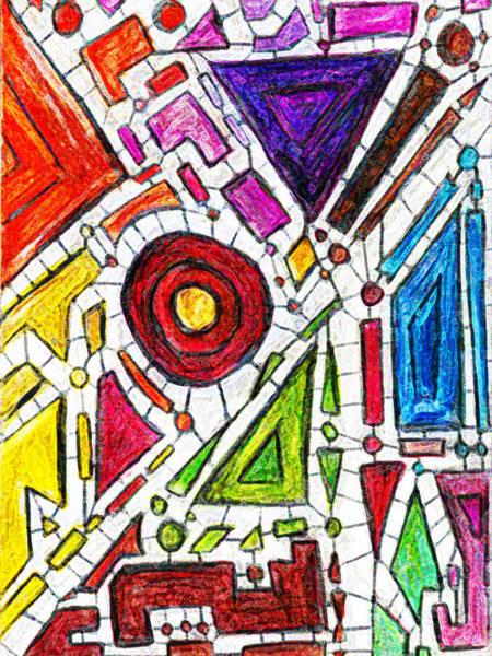 Drawing - Geometric Nodes by Luke Mitchell