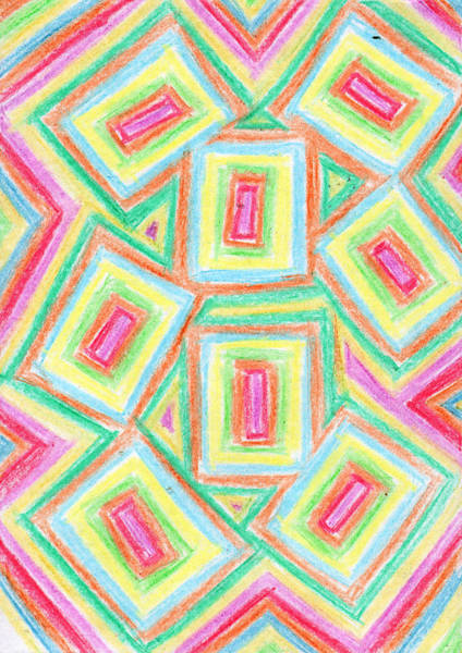 Drawing - Geometric Ornament by Irina Dobrotsvet