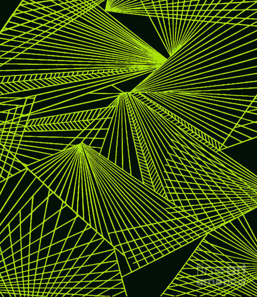 Painting - Geometric Pattern 1-colour-9 by Katerina Stamatelos