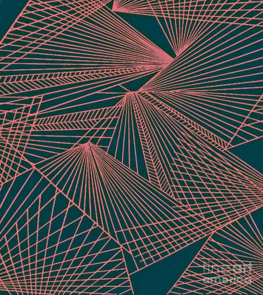 Painting - Geometric Pattern 3-colour-11 by Katerina Stamatelos