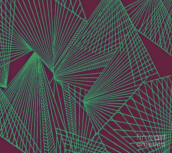 Painting - Geometric Pattern 3-colour-16 by Katerina Stamatelos