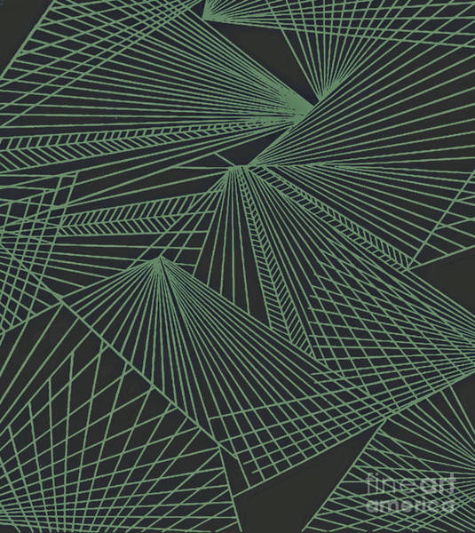Painting - Geometric Pattern 3-colour-22 by Katerina Stamatelos