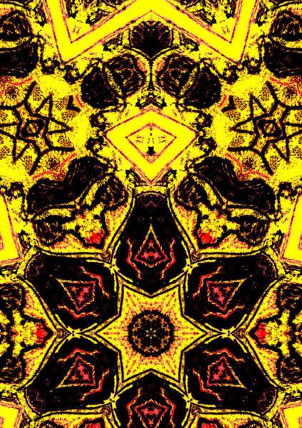 Digital Art - Geometric Yellow Abstract 6 by Artist Dot