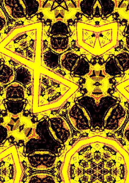 Digital Art - Geometric Yellow Abstract 7 by Artist Dot