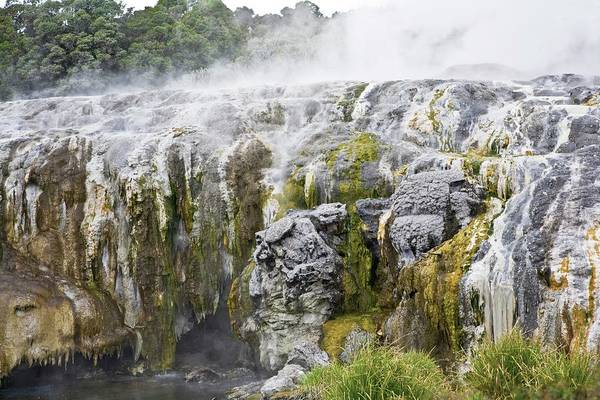Sulphur Photograph - Geomorphic Hot Pools In Rotorua, New by Design Pics
