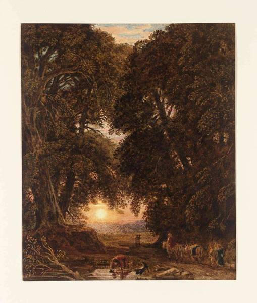 Wall Art - Painting - George Barret Junior Composition  Sunset C.1825-30 by George Barret Junior