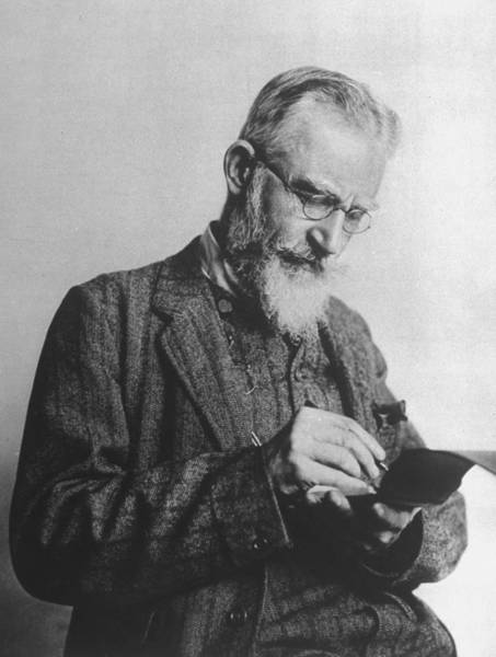 Scriptwriter Photograph - George Bernard Shaw by Time Life Pictures