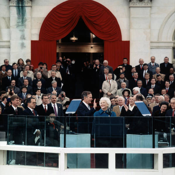 Wall Art - Photograph - George Bush Inauguration Ceremony - 1989 by War Is Hell Store