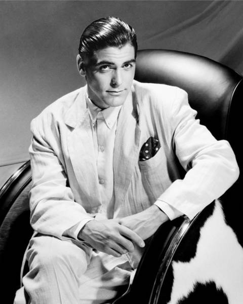 Photograph - George Clooney Portrait Session by Harry Langdon