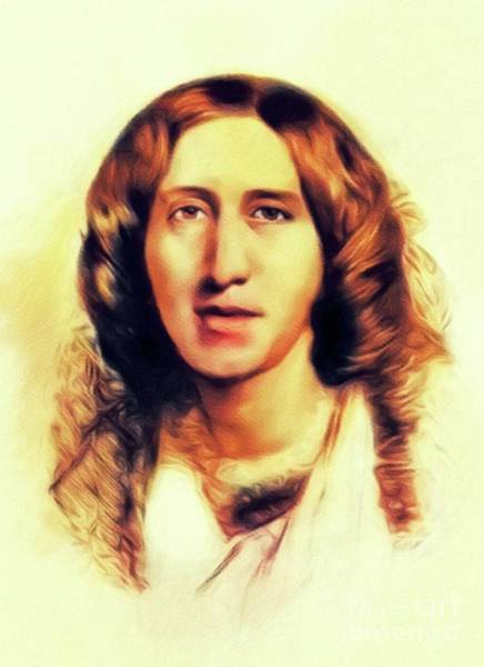 Wall Art - Painting - George Eliot, Literary Legend by John Springfield