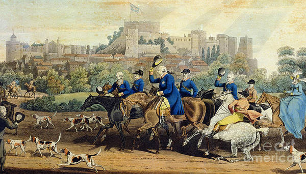 Wall Art - Painting - George IIi Returning From Hunting by James Pollard