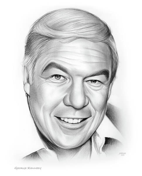 Television Drawing - George Kennedy by Greg Joens
