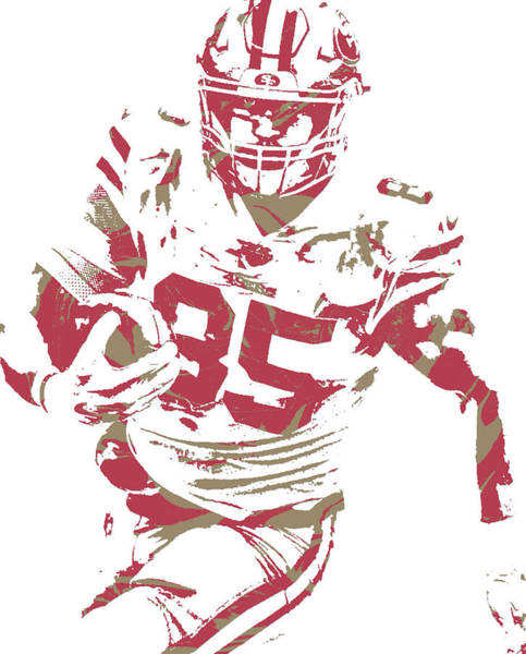 Wall Art - Mixed Media - George Kittle San Francisco 49ers Pixel Art 2 by Joe Hamilton