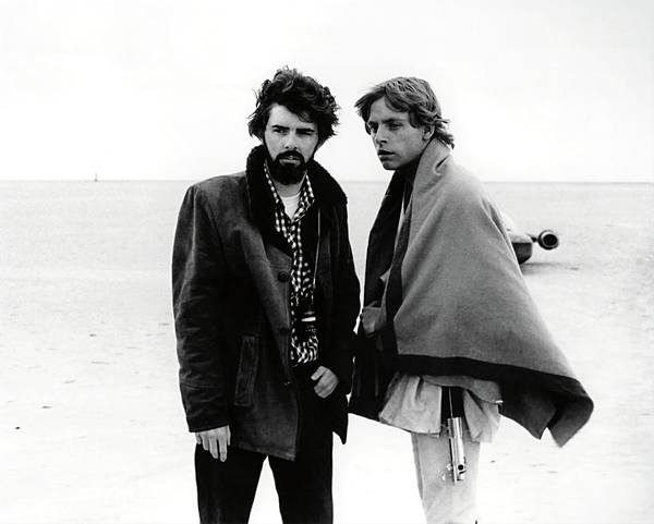 Episode Iv Wall Art - Photograph - George Lucas And Mark Hamill In Star Wars Episode Iv-a New Hope -1977-. by Album