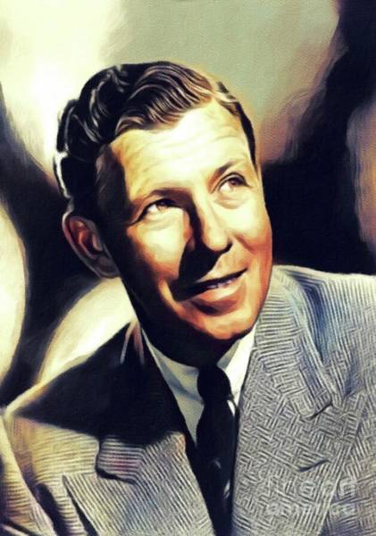 Wall Art - Painting - George Murphy, Vintage Actor by John Springfield