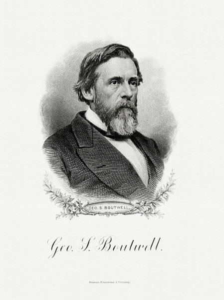 Wall Art - Painting - George S. Boutwell by The Bureau of Engraving and Printing