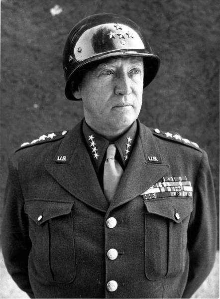 Helmet Photograph - George S. Jr. Patton by Time Life Pictures