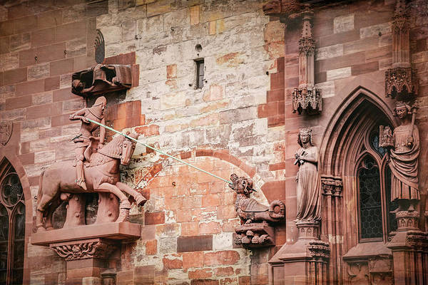 Wall Art - Photograph - George Slaying The Dragon Basel Minster Switzerland by Carol Japp