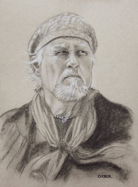 Drawing - George by Todd Cooper