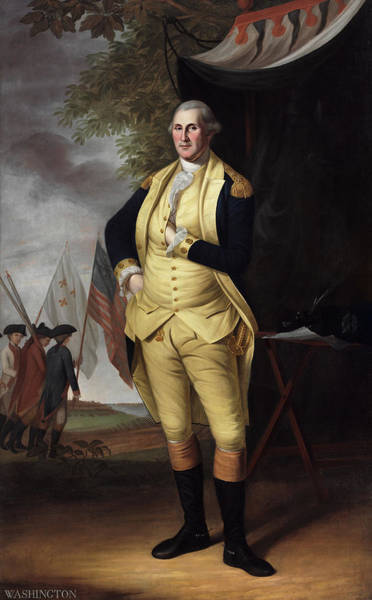 Wall Art - Painting - George Washington, 1784 by Charles Willson Peale