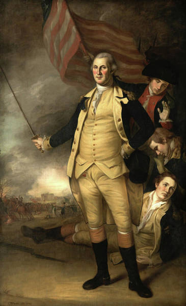 Wall Art - Painting - George Washington At The Battle Of Princeton, 1784 by Charles Willson Peale