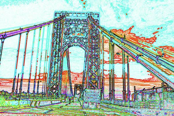 Wall Art - Digital Art - George Washington Bridge Abstract #3 by Dimitris Sivyllis
