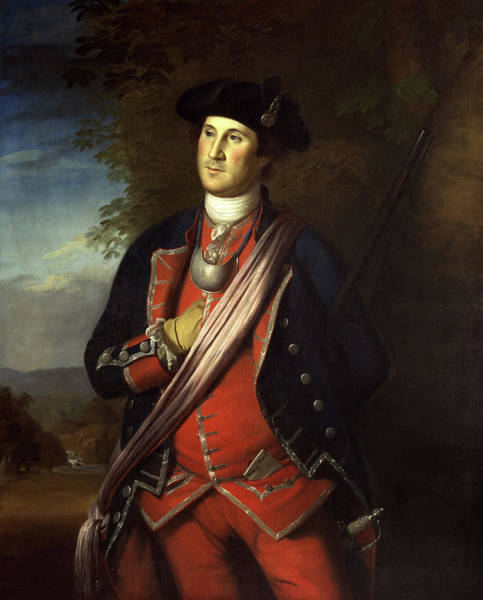 Wall Art - Painting - George Washington Military Portrait - Charles Willson Peale  by War Is Hell Store