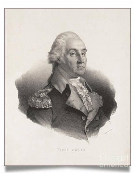 Digital Art - George Washington - Remastered by Carlos Diaz
