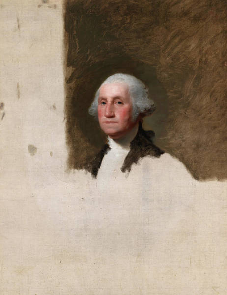 Wall Art - Painting - George Washington, The Athenaeum Portrait, 1796 by Gilbert Stuart