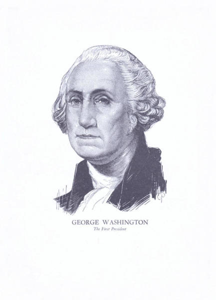 Wall Art - Drawing - George Washington, The First President by Zal Latzkovich