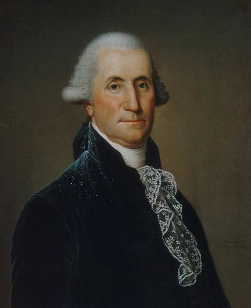 Wall Art - Painting - George Washington With Powder Speckles From Wig On Coat by Adolph Ulrich Wertmuller