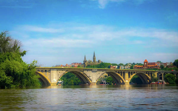 Photograph - Georgetown From The Potomac by Lora J Wilson