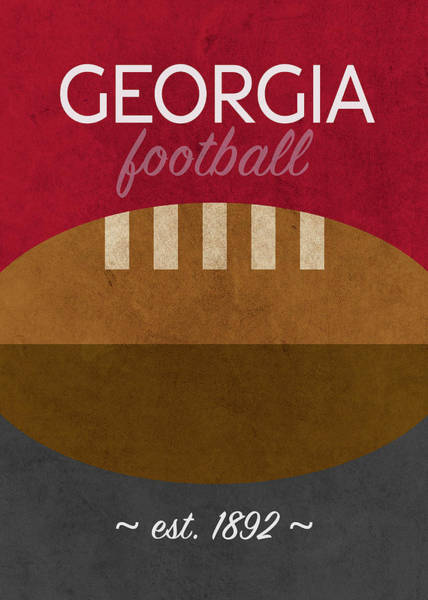Wall Art - Mixed Media - Georgia Football Minimalist Retro Sports Poster Series 009 by Design Turnpike