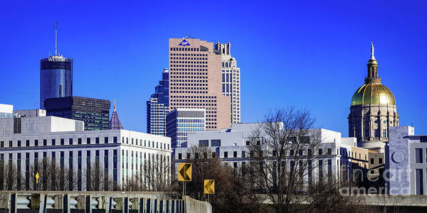 Photograph - Georgia State Capitol - Atlanta Skyline A by Sanjeev Singhal