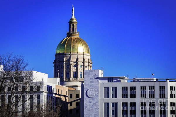 Photograph - Georgia State Capitol Building - Atlanta Ga B by Sanjeev Singhal