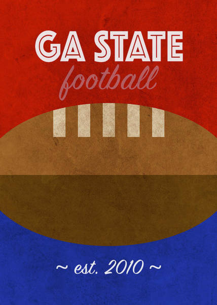 Wall Art - Mixed Media - Georgia State College Football Team Vintage Retro Poster by Design Turnpike