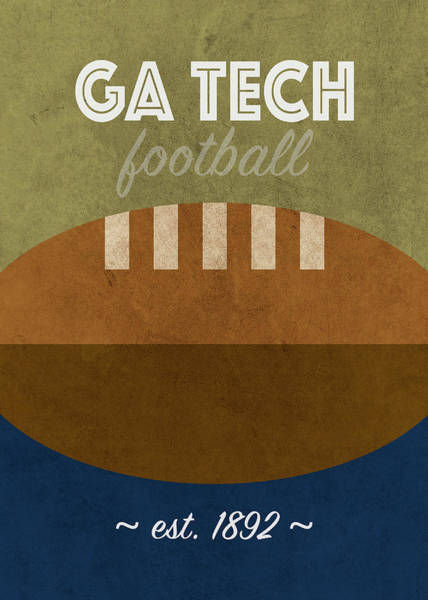 Wall Art - Mixed Media - Georgia Tech College Football Team Vintage Retro Poster by Design Turnpike