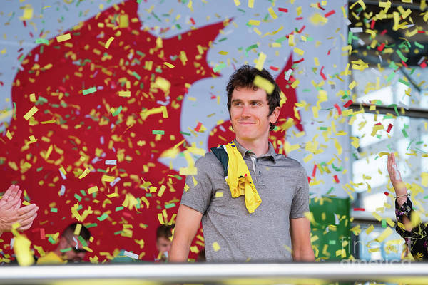 Photograph - Geraint Thomas, Welsh Cyclist, Winner Of The 2018 Tour De France, by Keith Morris