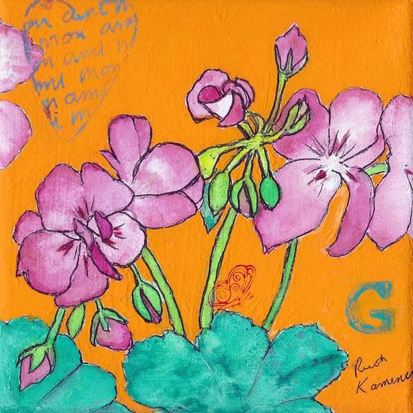 Painting - Geraniums by Ruth Kamenev