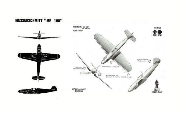 Photograph - German Messerschmidt Me 109 by Steve Estvanik
