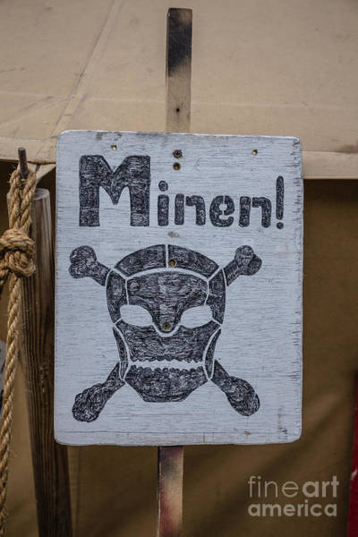 Wall Art - Photograph - German Mine Warning Sign From World War II by Edward Fielding