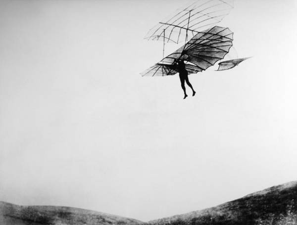Hanged Photograph - German Pioneer Otto Lilienthal And His by Keystone-france