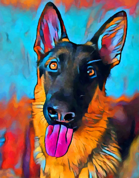Wall Art - Painting - German Shepherd 10 by Chris Butler