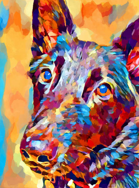 Wall Art - Painting - German Shepherd 12 by Chris Butler