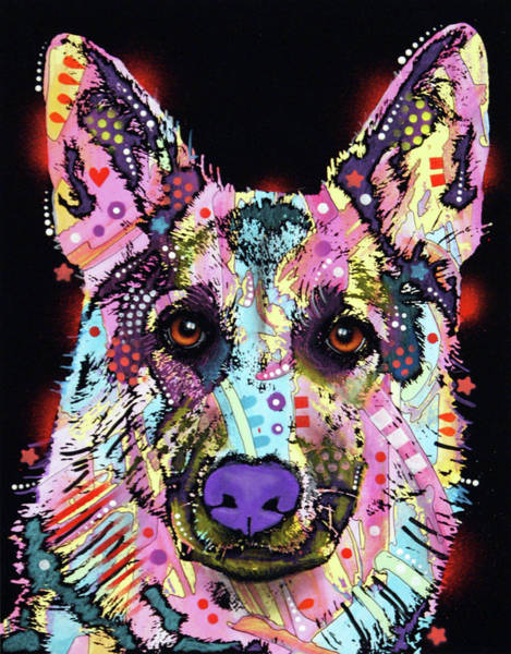 Wall Art - Painting - German Shepherd 2 by Dean Russo Art