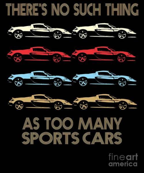 Awesome Show Digital Art - German Sports Car Retro Vintage Design by Dusan Vrdelja