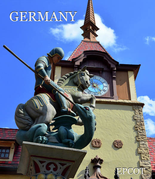 Epcot Center Wall Art - Photograph - Germany At Epcot by David Lee Thompson