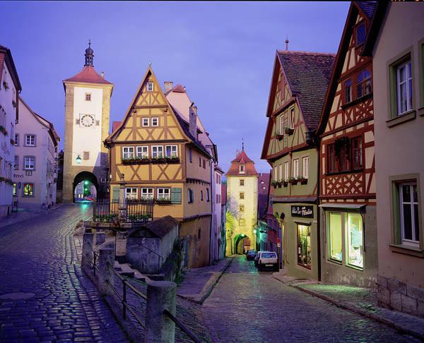 Tudor Photograph - Germany, Bavaria, Rothenburg Ober Der by Walter Bibikow